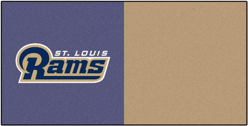 FANMATS NFL Los Angeles Rams Nylon Face Team Carpet Tiles by Fanmats