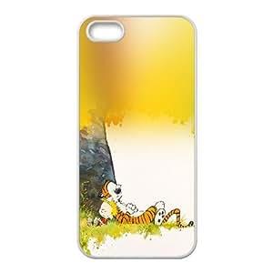 Calvin y Hobbes Sleeptime iPhone 4 4S caja del teléfono celular funda blanca del teléfono celular Funda Cubierta EEECBCAAH79117