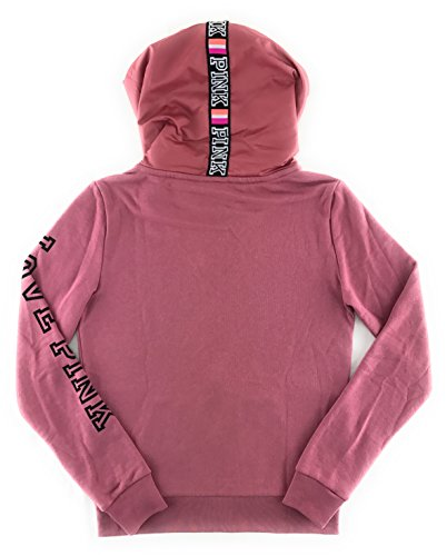 Victoria's Secret PINK Perfect Zip Hoodie Soft Begonia X-Small by Victoria's Secret (Image #3)