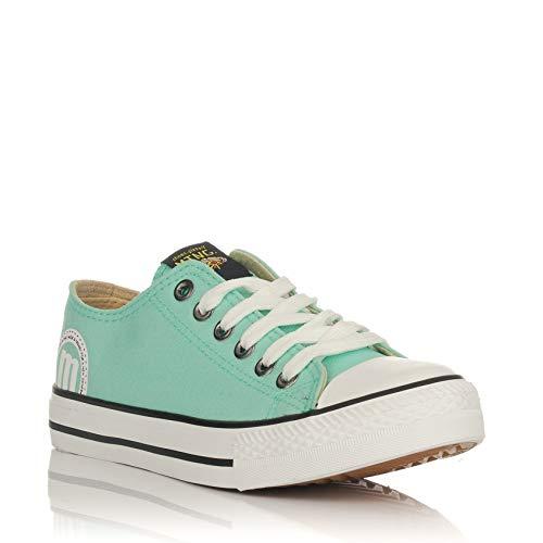 Zapatillas Lona Bambas Mustang Verde 13991: Amazon.es: Zapatos y complementos