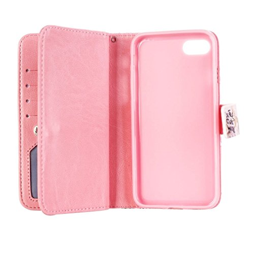 Mobile protection Para el iPhone 7 Sea Ture a quien usted está en relieve Patrón horizontal Caja de cuero Flip con 9 ranuras para tarjetas y la cartera y el titular, la pequeña cantidad recomendada an IP7G0336B