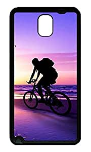 Note 3 Case, Galaxy Note 3 Case, [Perfect Fit] Soft TPU Crystal Clear [Scratch Resistant] Beach Bicycle Ride Ideas Back Case Cover for Samsung Galaxy Note 3 N9000 Cases