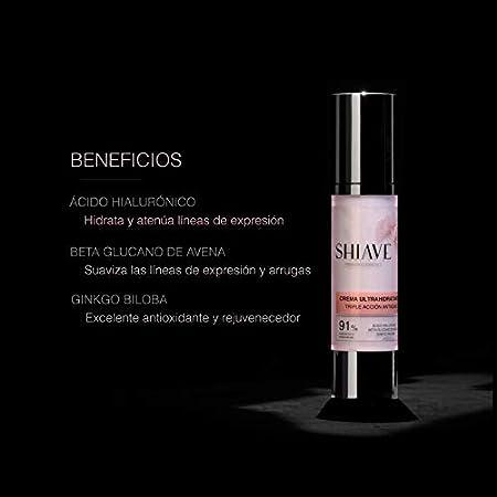 Shiave Premium Cosmetics Ritual Pack Belleza Facial: CONTORNO DE OJOS ANTIARRUGAS 15ml + CREMA ULTRAHIDRATANTE ANTIEDAD 50ml. Minerales esenciales y Ginkgo Biloba. Regenera e hidrata. 100% vegano