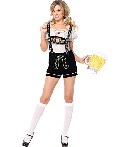 [Edelweiss Lederhosen Costume - Large - Dress Size 12-14] (Edelweiss Lederhosen Adult Costumes)