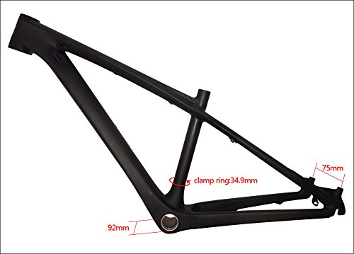 Fasteam 26er 16 '' 3K Matte Full Carbon Bicycle Frame MTB Frame with Bottom Bracket and Headset by Fasteam (Image #3)
