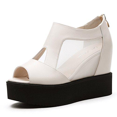 fondo zapatos zapatos Roma grueso de verano muffin playa Sandalias boca Moda Transpirable black de pescado de de Jacobs AJUNR elegante de BzqzwO