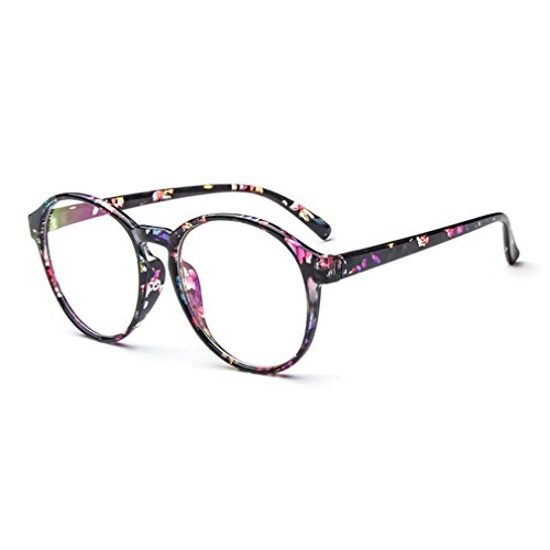 LOMOL Fashion Korean Design Retro Student Style Transparent Lens Frame Glasses For - Prescription Korean Glasses Circle