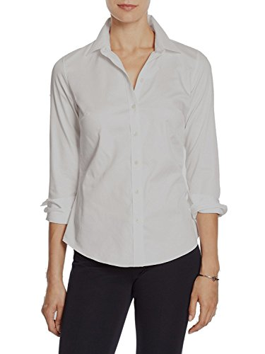 Banana Republic Women's Tailored Non-Iron Button Down Shirt White