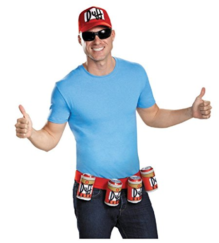 Disguise Men's Duffman Costume Kit, Multi, One Size ()