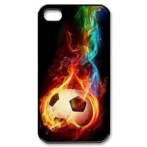 LSQDIY(R) Soccer Ball iPhone 4,4G,4S Phone Case, Cheap iPhone 4,4G,4S Hard Back Case Soccer Ball