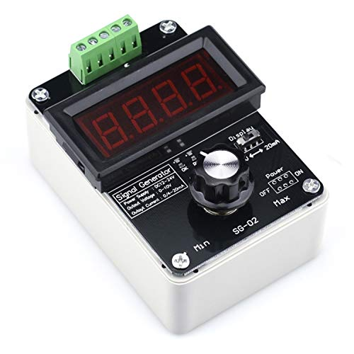 Cllena 4-20mA Adjustable Signal Generator, DC 0-10V 0/4-20mA Current Voltage Analog Simulator for PLC Panel Debugging Device Testing Frequency Converter Transmitter Output Simulation
