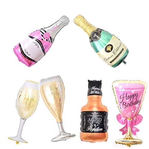 Inflatable Balloons Aluminum Foil Air Balloons 6 Pcs Popcorn Donuts Cream Hamburger Hot Dog Pizza for for Birthday Wedding Baby Shower Kids Children Party Decoration Supplies, Party shower Photo Props -