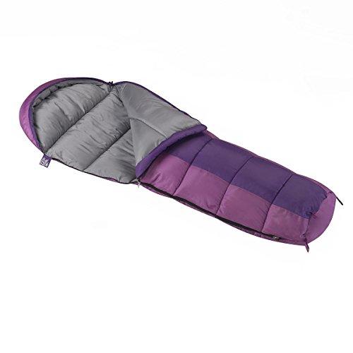 Kids Mummy (Wenzel Backyard Girls 30-Degree Sleeping Bag, Purple)