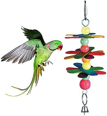 Danigrefinb Juguete de Loro, de Madera, para Mascotas, pájaros ...
