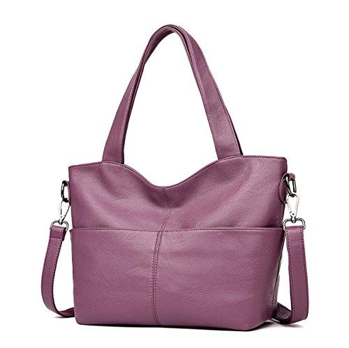 Mujer Nuevo Bolso Bolso Grande Bolso Grande Solo Bolso Purple