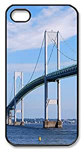 iPhone 4S CaseClaiborne Pell Newport Birdge PC Custom iPhone 4/4S Case Cover Black