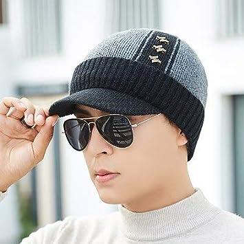 fc647ca5ac0 ... Cap Skullies Knit Hats For  HOKUGA Cotton Add Fur Brim Winter Hats  Skullies Beanies Hat For Men Women Wool Scarf popular ...