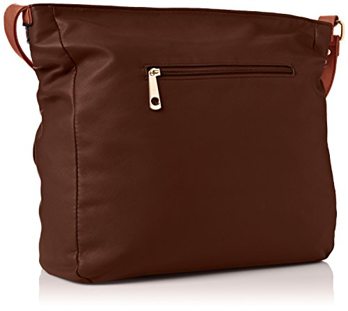 SwankySwans Gigi School Bag Pu Leather, Borsa a tracolla Donna Marrone (Dark Brown)