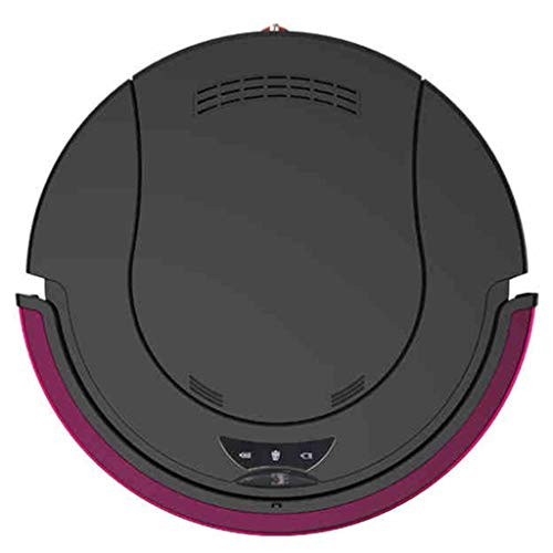 Sweeping Robot Ultra-Thin Electric Sweeper Household Automatic Intelligent Vacuum Cleaner Wetland Machine Washing|Wiping | Mopping Integrated Service Vacuums (Color : Purple, Size : 35cm|14inch)