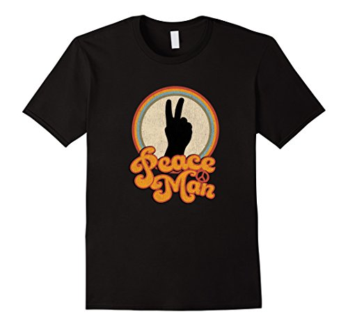 Mens Peace Man Vintage Style Retro Inspired 60s 70s t-shirt XL - Inspired 60s Fashion