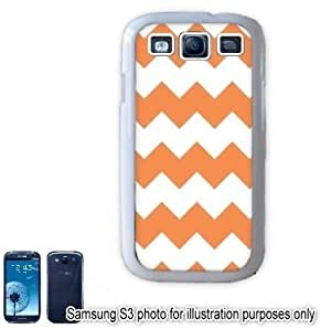 Orange Chevrons Pattern Samsung Galaxy S3 i9300 Case Cover Skin White