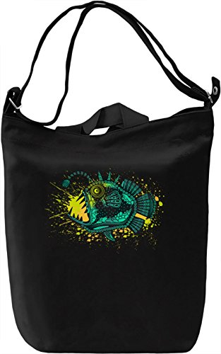 Wild Fish Borsa Giornaliera Canvas Canvas Day Bag  100% Premium Cotton Canvas  DTG Printing 