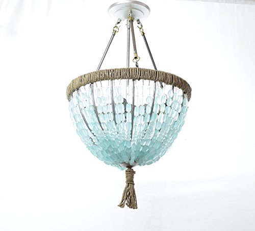 Sea Glass Chandelier - Cynthia - Sea Glass Nugget Open Chandelier