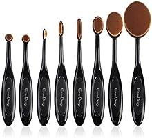 EmaxDesign Oval Make-up Pinsel Set, 8 Stück Professionelle Foundation Concealer Verblender Pinsel Flüssiges Pulver Creme Kosmetik Pinsel, Zahnbürste geschwungene Make up Pinsel für Gesicht und Augen.