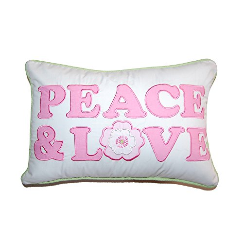 Cozy Line Home Fashions Peace & Love Greta Pastel Decorative Throw Pillow, Peace and Love (Pillows Peace Love)