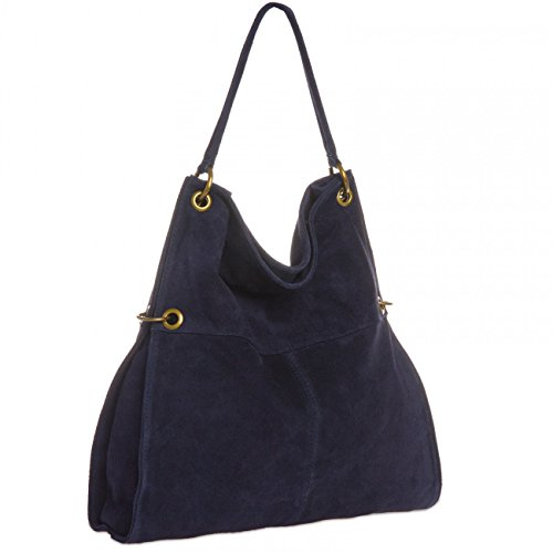 Blue Women Bag CASPAR Suede CASPAR Shoulder TL757 Dark TL757 Zxgq8wYtv