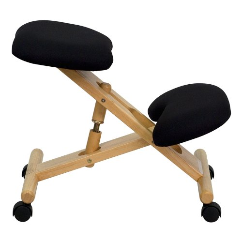 Flash Furniture Mobile Wooden Ergonomic Kneeling Chair In