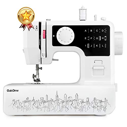 oakome Household Sewing Machine Multifunction - 12 Built-in Stitches and Patterns, Strong Horsepower, Perfect for All Sewing Jobs, Great for Beginners and Convenient for The Experienced (Black) -