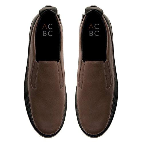 ACBC Scarpa Sneakers Urban Suola Bianca e Scarpa Nero - Caffee con Zip