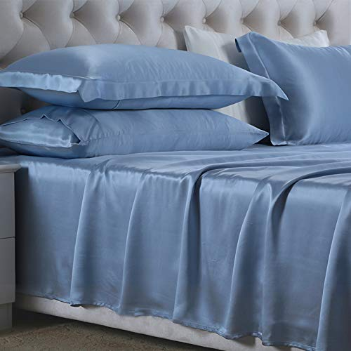 Lova Home Silk Sheet Set 4Pcs for Full Bed|100% Pure Mulberry Silk Sheets...