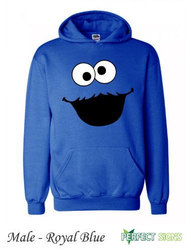 Sesame Street Adult Cookie Monster Sweatshirt with Hoodies Small