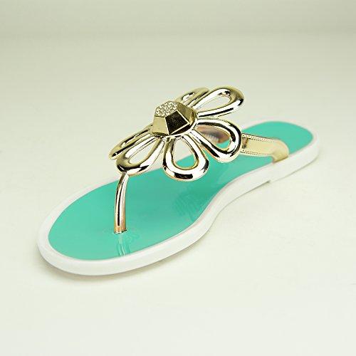 Chemistry® FLO-4 Flat Sandals Slip on Women Shoes Flip Flops Green 7OwENA