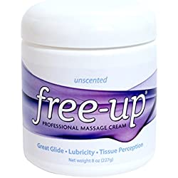 PrePak Products Freeup Unscented Massage Cream Jar, 8 oz