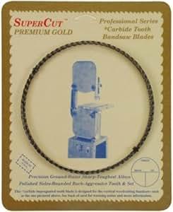 "SuperCut B124G14H6 Carbide Impregnated Bandsaw Blade, 124"" Long - 1/4"" Width; 6 Hook Tooth"
