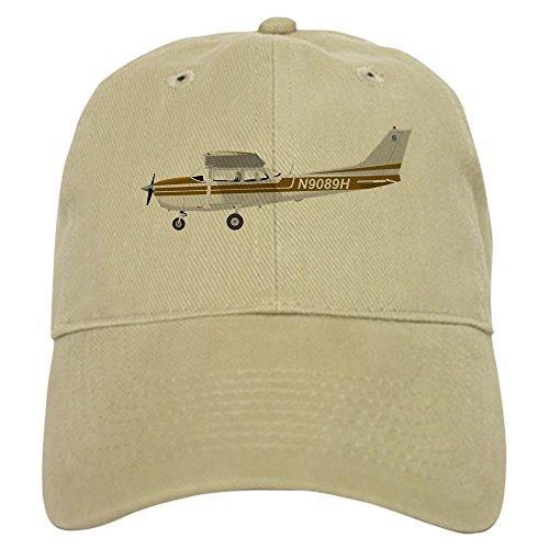 CafePress Cessna 172 Skyhawk Brown Baseball Cap with Adjustable Closure, Unique Printed Baseball Hat