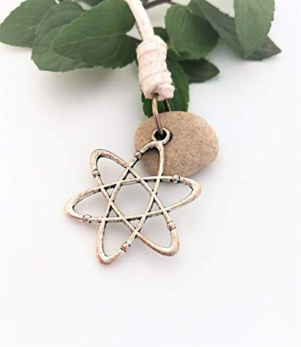 Universe Hag Stone Necklace for Men and Women, Atom Chemistry Physics Science Elements Necklace