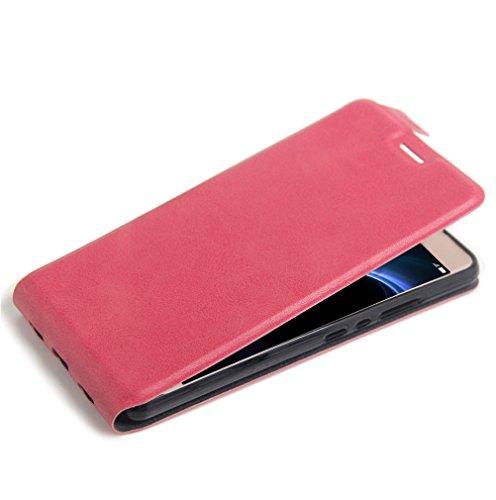 Funda Huawei Honor V8,Manyip Caja del teléfono del cuero,Protector de Pantalla de Slim Case Estilo Billetera con Ranuras para Tarjetas, Soporte Plegable, Cierre Magnético D