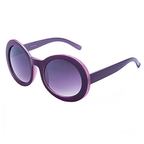 Duck Dynasty Fashionable Retro Round Plastic Frame Mirrored Lens Sunglasses (Purple, - Australia Sunglasses Motorcycle