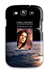 Tpu Case Cover For Galaxy S3 Strong Protect Case - Final Fantasy 1 Planets Science Fiction Woman Black Blue Stars Design