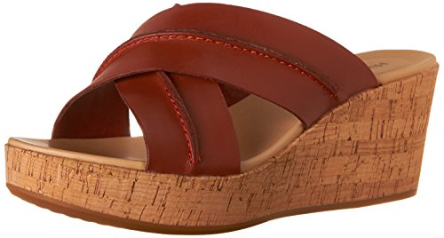 Hush Puppies Belinda de la mujer durante sandalias de plataforma Dark Orange Leather