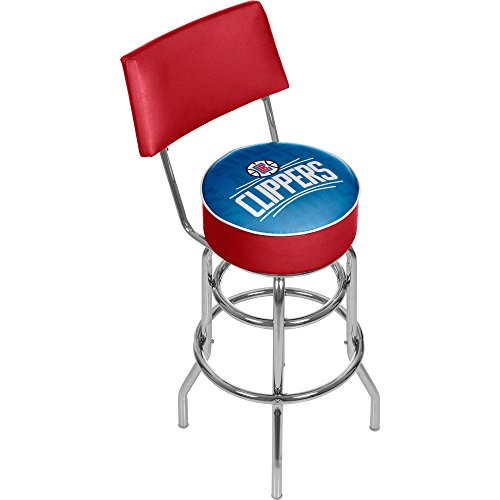 - Trademark Gameroom NBA1100-LAC3 NBA Swivel bar Stool with Back - City - Los Angeles Clippers