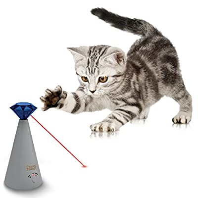Interactive Laser Toy for Pet Cat Automatic Rotating Catch Training Battery Operated with Adjustable 3 Speed Mode