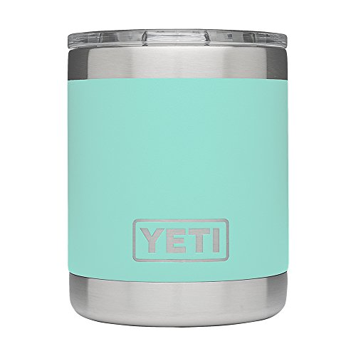 YETI Rambler 10oz Vacuum Insulated Stainless Steel Lowball with Lid, Seafoam DuraCoat - Green Wine Design