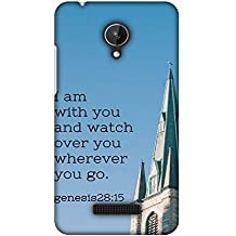 Micromax Canvas Spark Q380 Case, Premium Handcrafted Designer Hard Shell Snap On Case Shockproof Printed Back Cover for Micromax Canvas Spark Q380 - Bible Wisdom 4
