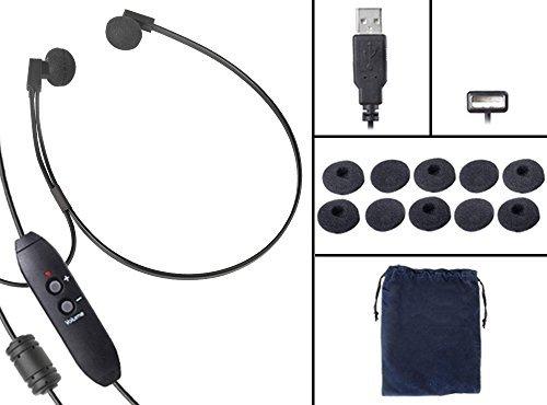 Spectra USB PCステレオTranscriptionヘッドセットwith Extra 5ペア抗菌耳クッション   B01MXCJBH1