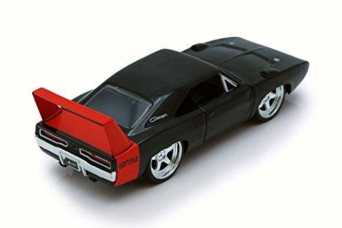 1969 Dodge Charger Daytona, Black - Jada 97681HT - 1/24 Scale Diecast Model Toy Car -